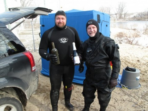 Our finds for January 31st cold river dive