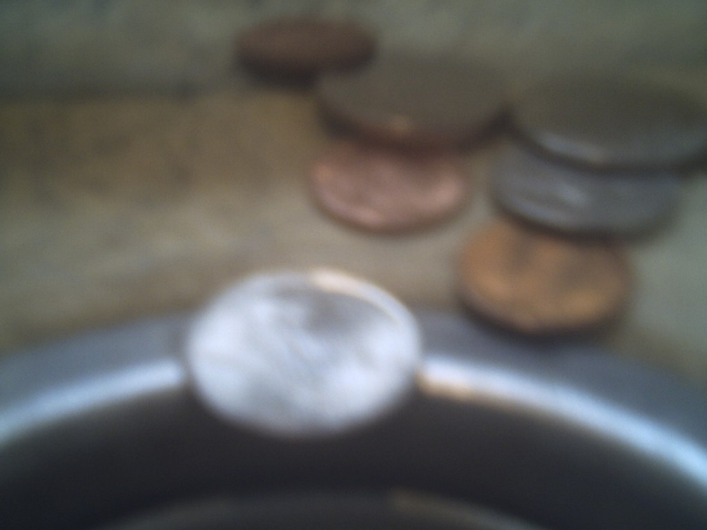 Too Close to Coins in My Sink - SS-1000 (I was too close based on focal length)