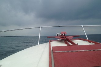 Jim S Boat Toward Land