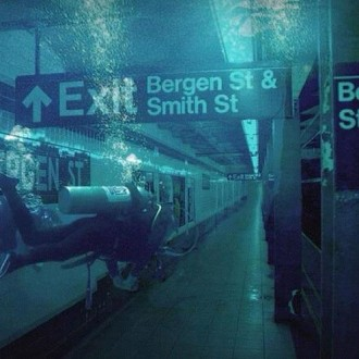 Scuba Diver in a Flooded Subway