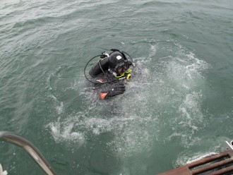 Jim S. Diving on Something B