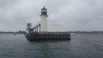 Saint Joseph Lighthouse with covered walkway