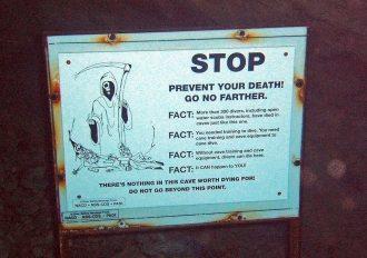 Cave Warning Sign