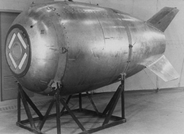 "Mark IV ""Fat Man"" Nuclear bomb Credit: US government photo"